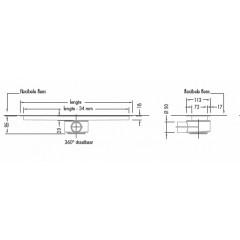 Easy Drain Modulo inbouwdeel M2 80cm waterslot 35mm EDM280035