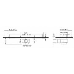 Easy Drain Modulo inbouwdeel M2 90cm waterslot 50mm EDM290050