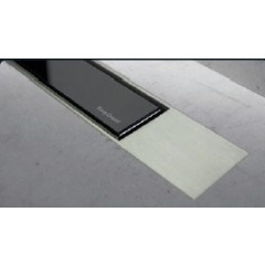Easy Drain Modulo TAF designrooster Z2 mat 80cm glas zwart MTAFDZ2MGS800
