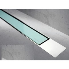 Easy Drain Modulo TAF designrooster Z2 gepolijst 120cm glas groen MTAFDZ2PGG1200