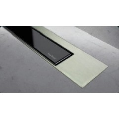 Easy Drain Modulo TAF designrooster Z3 mat 120cm glas zwart MTAFDZ3MGS1200