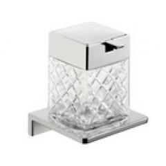 Emco Asio zeepdispenser wandmodel met kristalglas helder decor 2 chroom 132120402