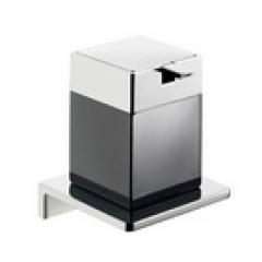 Emco Asio zeepdispenser wandmodel met kristalglas zwart chroom 132120404