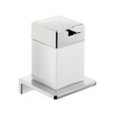 Emco Asio zeepdispenser wandmodel met kristalglas wit chroom 132120403