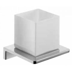 Emco Asio glashouder wandmodel met kristalglas wit chroom 132020403
