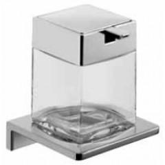 Emco Asio zeepdispenser wandmodel met kristalglas helder chroom 132120400