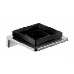 Emco Asio zeephouder wandmodel met kristalglas zwart chroom 133020404