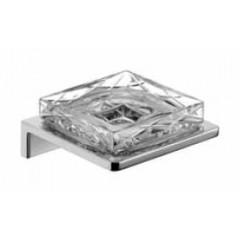 Emco Asio zeephouder wandmodel met kristalglas helder decor 1 chroom 133020401