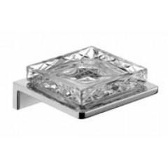 Emco Asio zeephouder wandmodel met kristalglas helder decor 2 chroom 133020402
