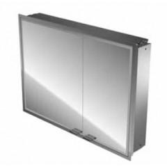 Emco Asis Prestige inbouw spiegelkast zonder radio 815x665mm aluminium 989705053