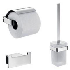 Emco Loft toiletset: closetrolhouder, haakje en closetborstelgarnituur chroom 059800100