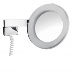 Emco scheerspiegel met LED-verlichting met snoer chroom 109600109