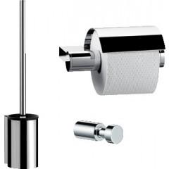 Emco System 2 toiletset: closetrolhouder, haakje en closetborstelgarnituur chroom 359800100