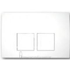 Geberit Delta 50 bedieningsplaat dual flush t.b.voor reservoir UP100 wit 115135111