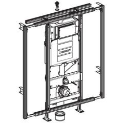 Geberit Gis-easy WC-element UP320 voorbereid op geurafzuiging op koolstoffilter 442022005