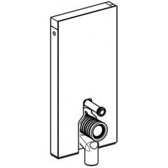Geberit Monolith sanitairmoduul t.b.voor vloerstaand closet met P-bocht H101 wit glas/alu 131003SI1