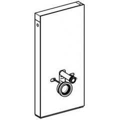 Geberit Monolith sanitairmoduul t.b.voor wandhangend closet wit glas/alu 131022SI1
