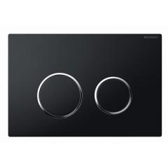 Geberit Sigma 20 bedieningsplaat 2-knops t.b.voor UP300/320/700 zwart/glans/zwart 115778KM1