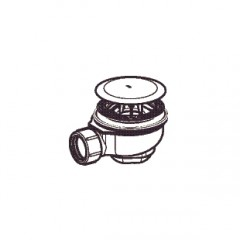 Geberit Uniflex douchebakafvoer compleet t.b.voor douchebak met gat 90mm glans verchroomd 150677211