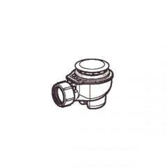 Geberit Uniflex douchebakafvoer compleet t.b.voor douchebak met gat 52mm glans verchroomd 150684211