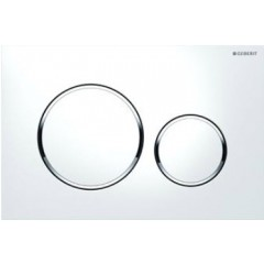 Geberit Sigma 20 bedieningsplaat 2-knops t.b.voor UP300/320/700 wit/glans/wit 115778KJ1