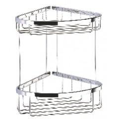 Geesa Basket hoekkorf dubbel groot chroom 183