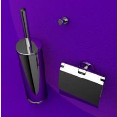 Geesa Nemox toiletset: closetrolhouder met klep, closetborstelgarnituur en haak chroom 650002110