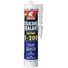 Griffon siliconenkit sanitair S200 koker à 300 ml voor acryl camee 1249306