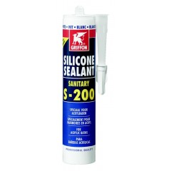 Griffon siliconenkit sanitair S200 koker à 300 ml voor acryl zilvergrijs 1249354