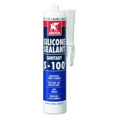 Griffon siliconenkit sanitair S100 koker à 300 ml voor sanitair afdichting transparant 1249350
