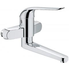 Grohe Euroeco Special wandkraan zonder koppelingen met hendel 17cm HOH=15cm draaibare uitloop 21,9cm chroom 32772000