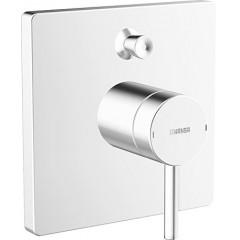 Hansa Designo varox afbouwset badmengkraan met omstel en beluchter chroom-wit 41113578