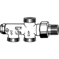 Heimeier Duolux onderblok 1-pijps M24x1.5 - 1/2