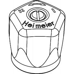 Heimeier Mikrotherm handknop wit 012202327