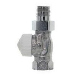 Heimeier V-Exact radiatorafsluiter recht DT15-1/2