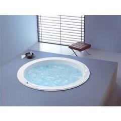 Hoesch Dreamscape kunststof bad acryl rond inbouw 180cm Ø z. poten wit 6114010