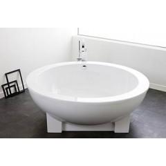 Hoesch Dreamscape kunststof bad acryl 180cm Ø vrijstaand met mantel met poten wit 6130010
