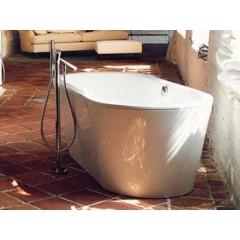 Hoesch Philippe Starck-II kunststof bad acryl ovaal 175x80x45cm vrijstaand met poten wit 6136010