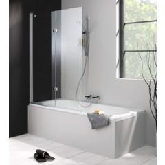 Hüppe 501 Design Pure bad draai-vouwdeur 120x150cm links 2-delig zilvermat/helder 175231087321