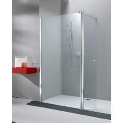 Hüppe 501 Design Pure vast segment met zwaaideur tbv inloopdouche 100x200cm en deur 35cm met Anti-Plaque zilvermat/helder 510891087322