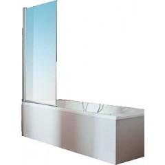 Hüppe 501 Design Pure badklapwand 75x150cm 1-delig zilvermat/helder 512401087321