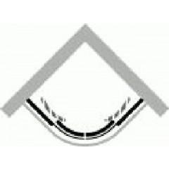 Huppe Classics 1/4R hoekinstap 800-1000x1900mm zilvoor mat/helder 1xschu