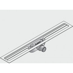 I-Drain Linear 54 douchegoot 120cm 1 sifon zonder rooster rvs ID4M12001X1
