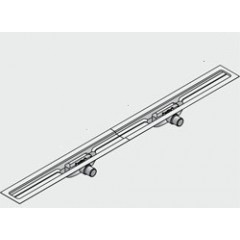 I-Drain Linear 54 douchegoot 90cm 2 sifons zonder rooster rvs ID4M09002X1