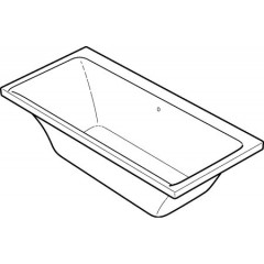 Keramag myDay kunststof bad acryl rechthoekig 180x80x45cm z. poten wit 650580000