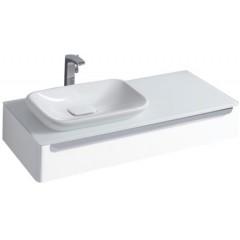 Keramag myDay wastafel onderbouwkast 115x20x52cm voor inbouwwastafel sifonuitsparing links wit 814260000