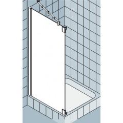 Kermi Pasa XP zijwand voor draaideur met vast segment F 90x200cm links matzilver/helder PXTFL090201AK