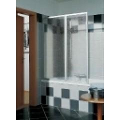 Kermi Vario-2000 badklapwand 2-delig 110x140cm wit/helder V2FW2060142AK