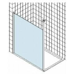 Kermi Walk-In Wall douchewand muurmontage met plafondsteun 98.3x200cm glanszilver/helder XXWSW09820VAK