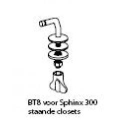 Pressalit 300 toiletzitting met deksel wit BT8999